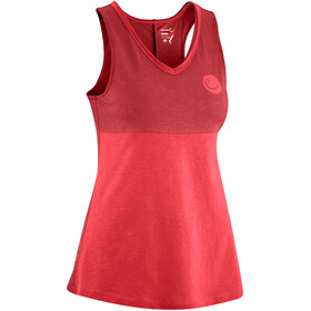 Edelrid Pof Mouwloos Shirt Dames rood